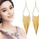 Golden Tassel Golden Earrings Fashion Dangle Drop Gold Jewelries Fashion 2018 Earrings