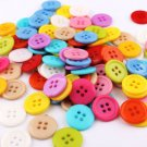 200 Pieces Buttons Round Buttons Four Holes Multi-colored 9mm Buttons for DIY Handmade Projects