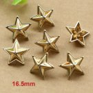 10 Pieces Golden Star Buttons Garment Decorations for craft Shank Button for Sewing Projects