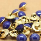80 Pieces Navy Blue Buttons 10mm Round Eyeball Sewing Decorative Buttons Shank Noses for Dolls