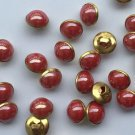 80 Pieces Burgundy Buttons 10mm Round Eyeball Sewing Decorative Buttons Shank Noses for Dolls