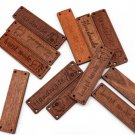 """12 Pieces Wooden Buttons Patchwork Label """"Handmade"""" Buttons Size 6.2x1.7cm Wide Buttons"""