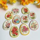 40 Pieces Floral Button Egg-Shaped Buttons Flower Wooden Buttons for Sewing Supply Industry