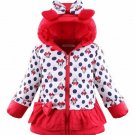 Red Minnie Mouse Winter Coats for Girls 2t,3t,4t Toddler Girls Polka Dots Jackets