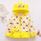 Minnie Mouse Winter Coats for Toddler Girls 2t,3t,4t Toddler Girls Polka Dots Yellow Jackets