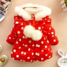 Buy Winter Coats Outerwear for Toddler  Girls Red Polka Dot Big Bow knot in the Back