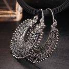 Antique Silver Earrings Ethnic Earrings Tocona Tribal Hoop Earrings