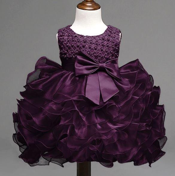 Christening Dress 12 Months Baby Girls Dress Purple Dress Infant Baby Dress Formal Wear