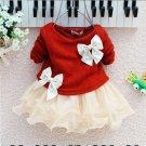 Red Christmas Dress Newborn Girls 3 Months Baby Christening Dress for Girls Baby Shower Gift