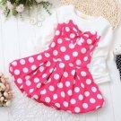 9-12 Months Red Tutu Disney Land Polka Dots Dress for Infant Girls Dress Dress with Bows