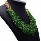 RSS 2018 Silk Bib Green Necklace Statements Jewelry for Women Chunky Collar Necklaces