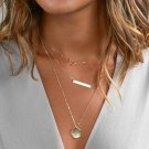 Semi Infinity Necklace All Match Necklace for Women Triple Layer Multilayer Trendy Fashion Necklaces