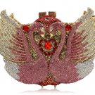 Pink Clutch for Women Highly Recommended Swan Clutches Crystals Bridal Clutch for Luxury Wedding