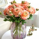 Pink Silk Flowers Office Decoration 10 Pieces Damask Chinensis Roses Hybrid Tea Roses for Decoration