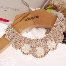 New Trendy Necklace 70cm Ivory Sequined Popular Fake Collar Choker Necklace Beaded Statements