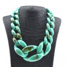 Very Large Necklaces Chunky Turquoise Necklace for Teens and Women Linked Chains Fashion Big Bibs