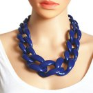 Ultra Big Chain Necklaces Chunky Blue Necklace for Women Linked Chains Fashion Big Bibs