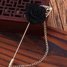 Wedding Groom Brooch Black Pins Brooch for Men Floral Lapel High Quality Brooches for Men