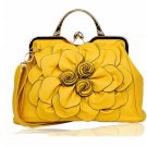 Ready to Ship RSS 2018 Yellow Purse Shoulder Bag with Big Flower Yellow Totes for Women