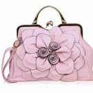Ready to Ship RSS 2018 Pink Purse Shoulder Bag with Big Flower Pink Totes for Women