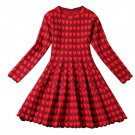 Fashion Red Dress for Women Printed Hearts Luxury Formal Dress High Quality Red Dresses