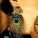 Beautiful Peacock Long Earrings Peacock Feather Handmade RSS 2018 Earrings for Women