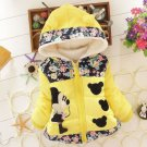 Yellow Winter Coats for Toddler Girls 3t Girls Parka with Hood Polka Dots Yellow Jackets