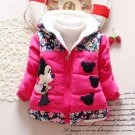 Minnie Mouse Winter Coats for Toddler Girls 2t Girls Parka with Hood Polka Dots Pink Jackets