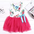 Hot Pink Dress for Girls 9-12 Months Summer Dress Printed Dress Sleeveless Dress for Infants