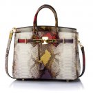 RSS Boutique Red Leather Handbags Fashion Top Branded Snake Pattern Purses Gift for Mothers Day