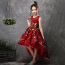 RSS Boutique Christmas Dress for 3T Girls with Detachable Golden Rose Corsage
