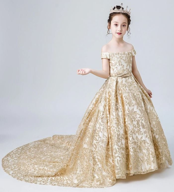 RSS Boutique FREE Golden Tiara with Quinceanera Birthday Dresses Golden Dresses
