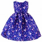 RSS Boutique Royal Blue Dresses Sleeveless Blue Dress Printed Dancing Ballerina Spring Dress