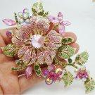 RSS Boutique Floral Brooch Pink Feminine Bridal Brooch Mother of The Bride Pink Brooch