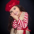 RSS Boutique FREE Bow Headband with Candy Cane Striped Dress 6-9 Months Red Tutu Dresses