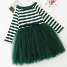 RSS Boutique Green Christmas Dress for Girls Fluffier Tutu Stretchy Dress Striped Baby Tutu Dress