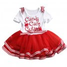RSS Boutique Christmas Dress for 3-6 Months Baby Dress Newborn Tutu Dress Candy Stripe
