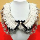 Ivory Color Renaissance Collar Shaggy Necklaces for Women Fringe Lacy Collars