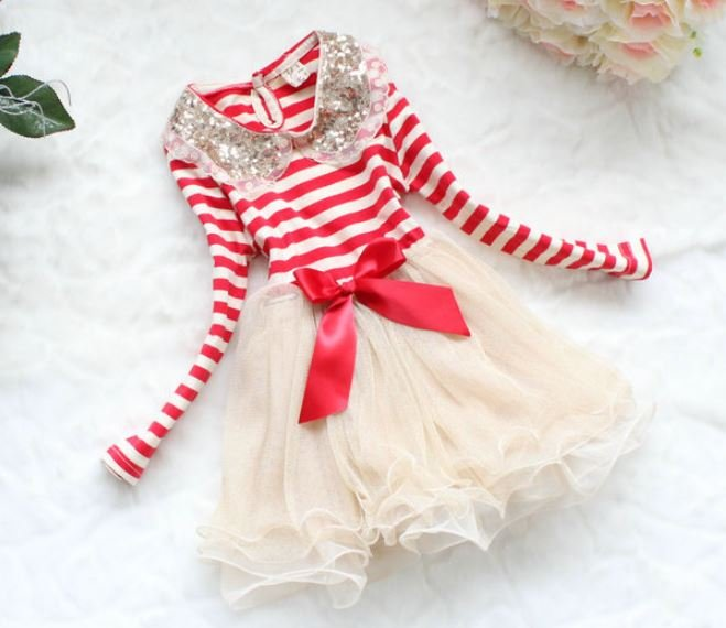 Red Striped Dress for 7-8yo Christmas Dress Candy Canes READY TO SHIP Toddler Girls Red Dress