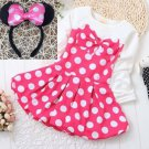 Ready to Ship 12-24 Months Pink Tutu Dress for Baby Girls FREE Minnie Bow Headband