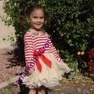 2t Girls Red Dresses Christmas Day Striped Candy Canes READY TO SHIP Toddler Girls Red Tutu Dress