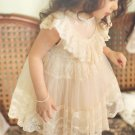 Victorian Dress Ivory Dresses for 2T Toddler Girls RSS Boutique Cute Dress for Infant Girls