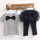 READY TO SHIP Soft 3 Months Matching Set Navy Blue Tees Navy Sailor Dress for Infant Girls