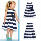 RSS Boutique 9-12 Months Navy Blue Toddler Girls Dress FREE Shipping Wonder Striped Dresses