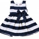 RSS Boutique 4T Navy Blue Toddler Girls Dress FREE Shipping Lighter Striped Dresses