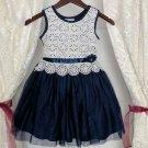 Iconic 4T Navy Blue Toddler Girls Dress FREE Shipping Ivory Bodice Fuller Tutu Dresses