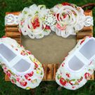 1-3 Months Floral Newborn Baby Shoes Baby Shower Gift Set for Future Mother