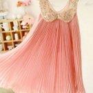 Sweet Memories Peach Dress for Infant 3T Girls Singleness Casual Dress Pink Formal Tutus
