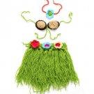 3pcs/set Green Dancing Hawaiian Hulas Newborn Props 2RCP FREE SHIPPING Photography Accessories
