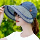 All Matching Denim Visor Hats for Women READY TO SHIP Wide and Long Brim